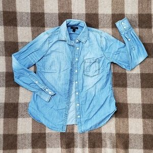 J. Crew Denim Button Up Shirt